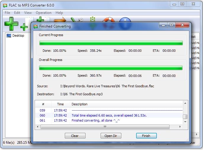 Click to view FLAC to MP3 Converter 6.0.7 screenshot