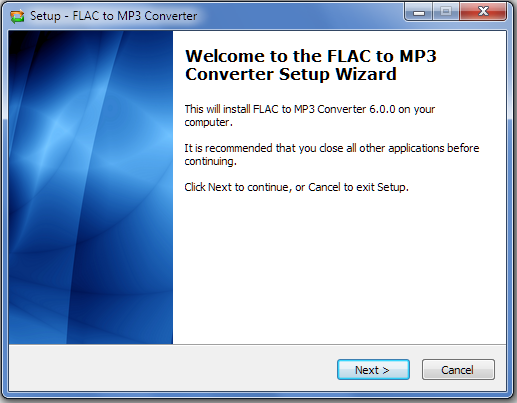 Install FLAC to MP3 Converter